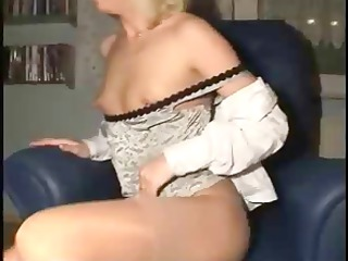 Horny French amateur housewife spreads her pussy