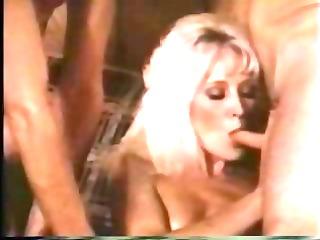 Blonde Retro Milf Taken By 2 Cocks