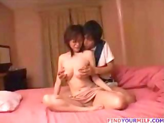 Japanese Mom And Sons friend 3