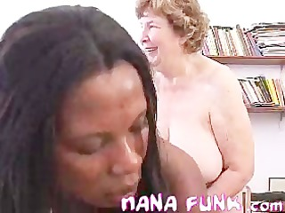 Nana Fucking Strap-on With Black Chick