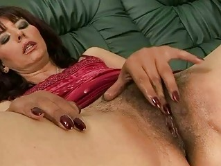 Hairy grandma masturbating and getting fucked