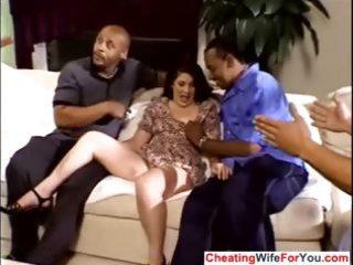 Mature wife gangbanged by bbc