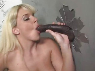 MILF goes black at a gloryhole