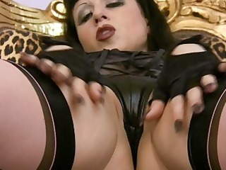 Softcore Masturbations of Busty MILF in Stockings
