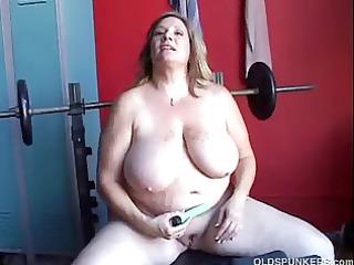 Beautiful chubby amateur MILF has some huge boobs