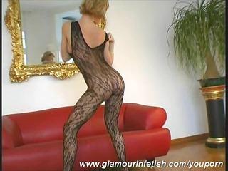 Glamour milf posing in nylons