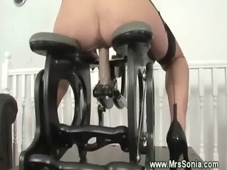 Mature secretary gets pussy drilled
