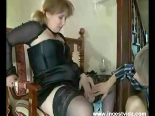 British mom taking her shy sons cock