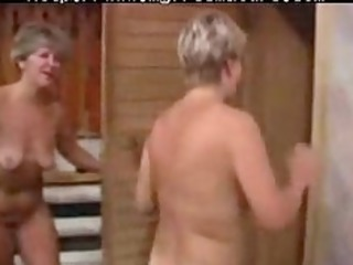 Two Sexy Granny Lady With A Young Boy mature
