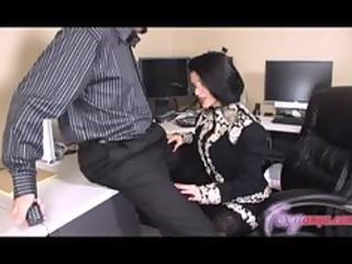 MILF Gets Facial At Job Interview
