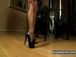 Hot milf on lingerie gets horny rubbing part4