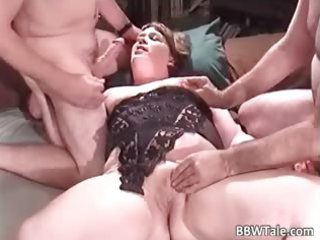 Chubby milf enjoys in great group part5
