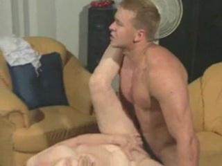 Granny Susanne Drains Muscle Guy