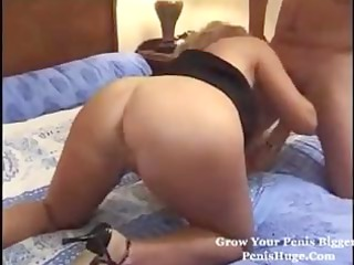 Blonde French mature with big boobs gets slammed