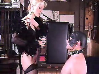 Sexy bizarre mature dominatrix extreme spitting