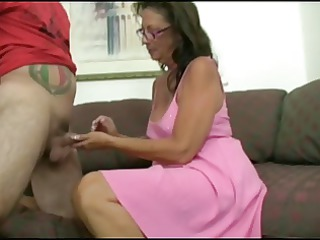 Mature give Boy a Handjob