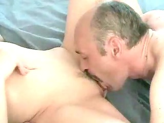 Horny old man vs young chick