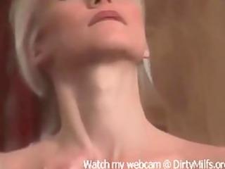 Hot Blonde Milf masturbating