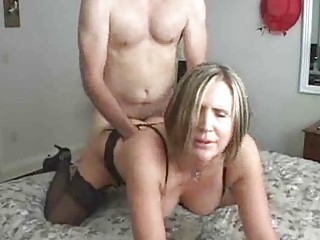 Mature MILF Teaching Young Man