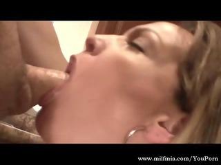 MILF In The Kitchen, Sucking