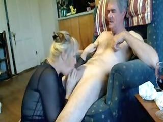 Non-Professional Mature Oral Pleasure-Sex on Sofa