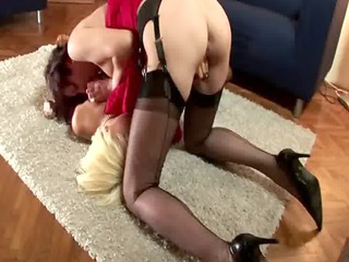 Mature slut gets that lesbian ass red by spanking