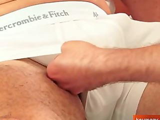 Sport mature man getting sucked by a fresh guy