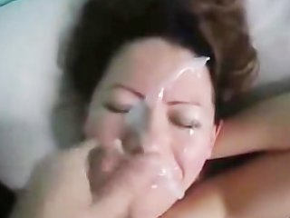 Wife gets a nice facial