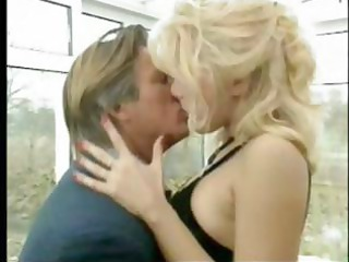 French blonde MILF secretary seduces the boss for