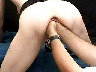 Bizarre mature babe fisting and huge bottles