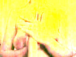 Mature lady handling huge penis