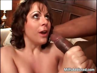 Lusty MILF gets double fucked as black part1