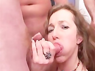Sexy cute face milf with small tits