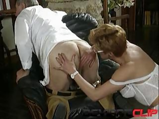 Mature sex with hairy MILF and her doctor