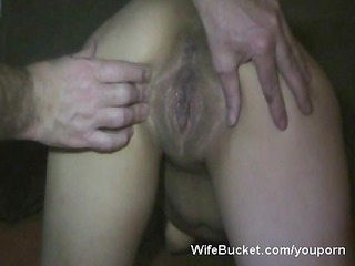Horny wife gets a big creampie