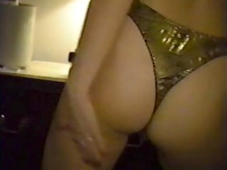 Blonde Whore Stripping and Flaunting her Hairy