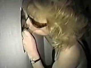 blonde wife has some gloryhole fun