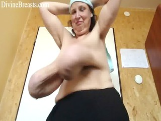 Mature with Long Saggy Breasts