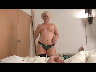 Mature bimbo ruling over a cock POV