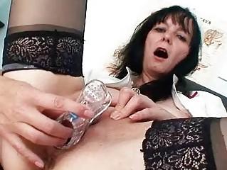 Filthy old milf nurse got nice big tits under late