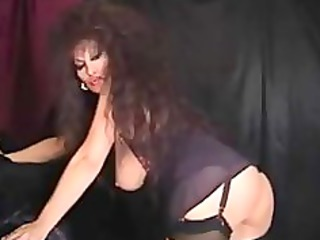 Classic Busty Cougar Smoking And Toying mature