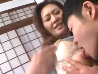 Mature asian slut love his young body and want to
