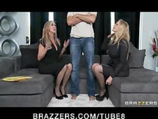 Bigtit blonde MILF sluts Julia Ann Brandi Love in