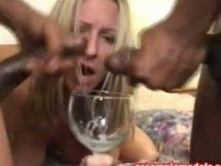 Cum Hungry MILF Drinks Cum