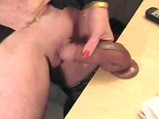 Pervert amateur granny with huge clit masturbating
