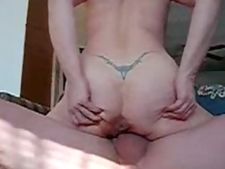 Fucking and creampie My 50 years Wife