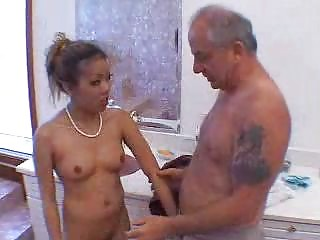 grandpa blown by hot asian girl in shower 3
