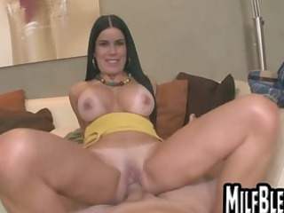 Black haired MILF babe gets fucked